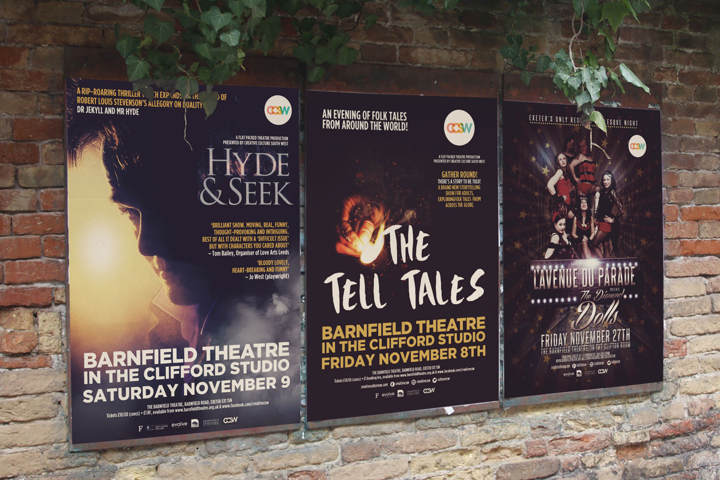 Evolve Promotion - Barnfield Theatre Outdoor Billboards Posters