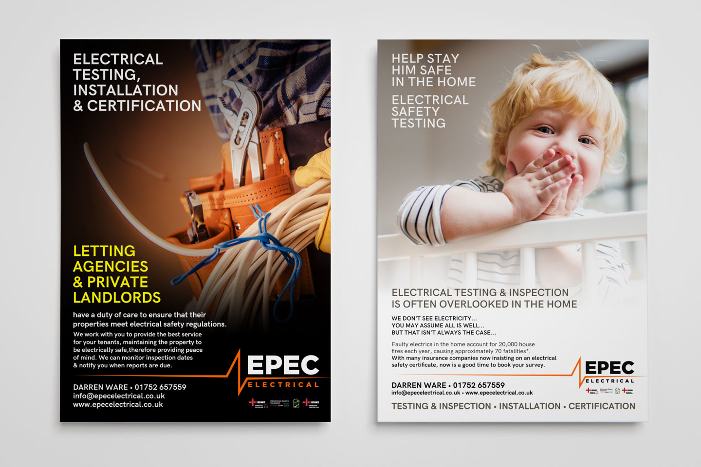 Evolve Promotion - EPEC Electrical Leaflets And Flyers Exeter