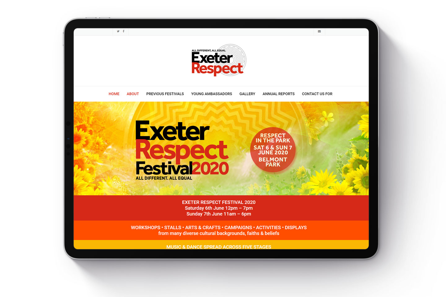 Evolve Promotion - Exeter Respect Festival Website