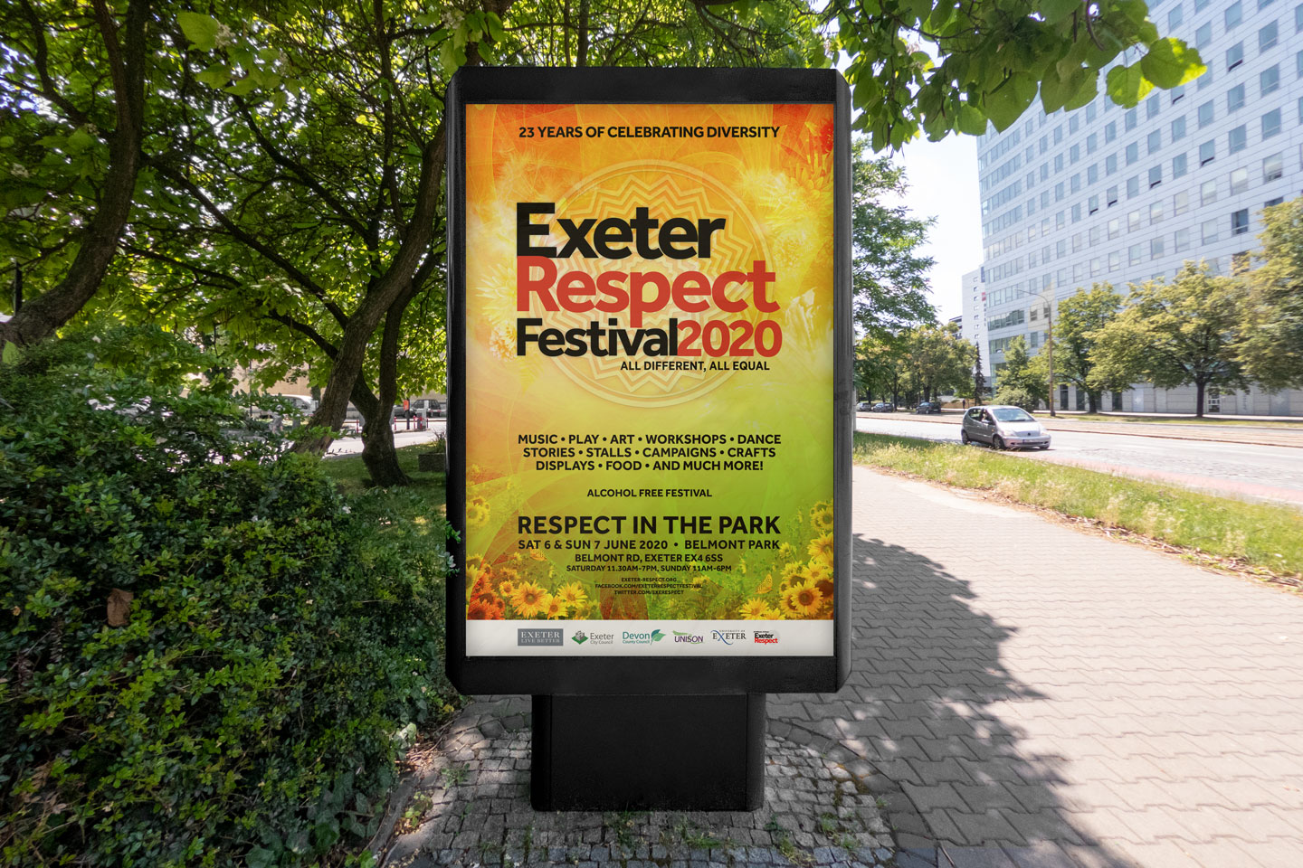 Evolve Promotion - Exeter Respect Outdoor Advertisement