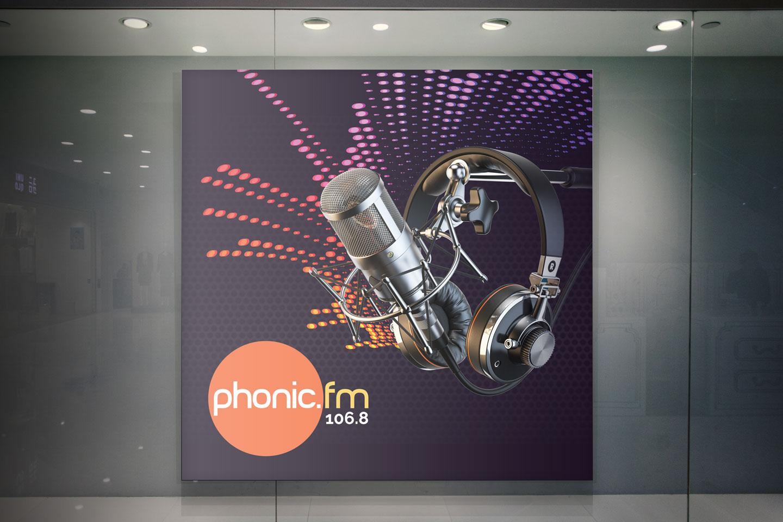 Evolve Promotion - Phonic FM Logo Design