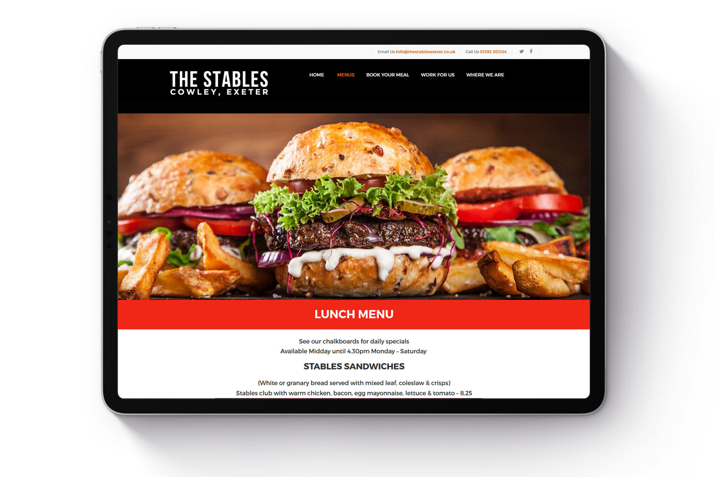 Evolve Promotion - The Stables Cowley Exeter Website