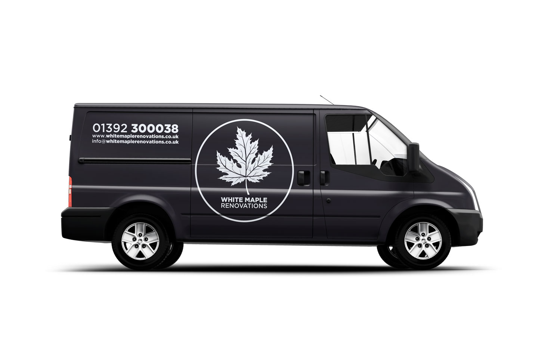 Evolve Promotion - White Maple Logo Design And Van-Livery
